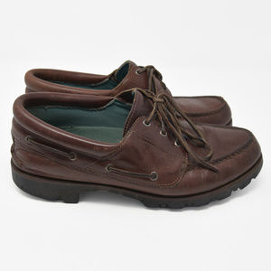 Orvis Shoes - Orvis Sz 11M Brown Leather Slip On Loafer Boat